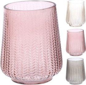 Vaza, stiklinė, įvairių sp., 15 cm.