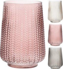 Vaza, stiklinė, įvairių sp., 20 cm.