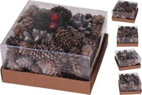 Dekoratyvinių kankorėžių rinkinys, 140 g.