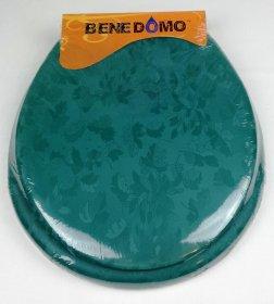 Minkštas klozeto dangtis 42,5x36x5cm, žalias, su tvirtinimo elementais