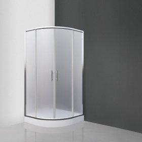 Dušo kabina SANIPRO TEXAS 90 x 90 x 190cm, pusapvalė, žemas padėkl.12,5cm, stiklas 4mm, sifonas, kilmės šalis Čekija, ST