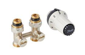 Radiatorių termostatų komplektas, tiesus DANFOSS  H, +RAS-CK, 5025, M30x1.5 term. galva, 013G5275