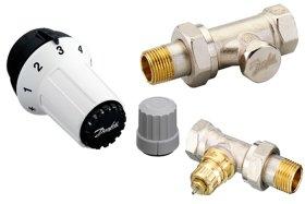 Radiatorių termostatų komplektas, tiesus DANFOSS  RAS-C, 5023 term. galva + RA-FN vent. +RLV-S 15 vent., 013G5254
