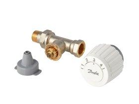 Termostatinis ventilis DANFOSS FJVR d15 tiesus ir termostatinė galva FJVR DANFOSS, 003L1080