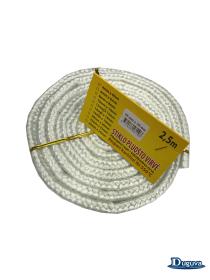 Krosnelės durų sandarinimo virvė, stiklo pluošo  10 mm/2,5 m