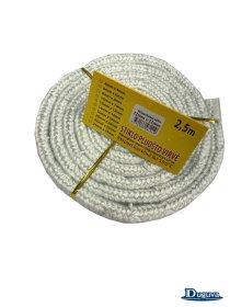 Krosnelės durų sandarinimo virvė, stiklo pluošo  12 mm/2,5 m