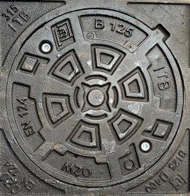 Kanalizacijos dangtis  BO-125, d415/320 Ketaus, apkrova - 12,5 t., svoris 33 kg