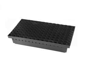 Batų valymo vonelė BIELBET Matmenys 600 x 400 x 100 mm Su plastikinėmis gumuotomis grotelėmis