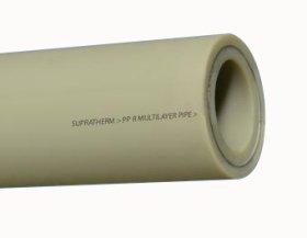 Vamzdis, lituojamas, stabilizuotas  d32 x 5,4 mm, PN25, 4 m, PPR, 84302, su stiklo pluoštu