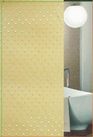 Vonios užuolaida 180x180cm, tekstilinė, su žiedais, geltoni deimantai