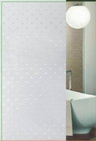 Vonios užuolaida 180x180cm, tekstilinė, su žiedais, balti deimantai