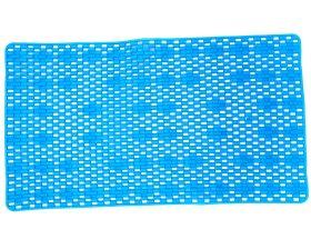 Vonios kilimėlis 70x38cm su siurbtukais, PVC, mėlynos spalvos
