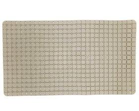 Vonios kilimėlis 70x39cm, su siurbtukais, PVC, rusvai žalsvos spalvos