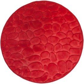 Vonios kilimėlis DUSCHY BELLARINA 767-80, D-60 cm, raudonas, Estija
