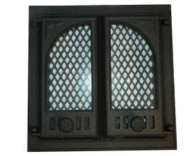Židinio durelės Kisieliaus PĮ 475x475, mažos su stiklu, ketaus