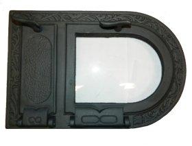 Židinio durelės Kisieliaus PĮ 495x325, hermetiškos su stiklu, ketaus