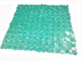 Dušo kilimėlis 54x52cm su siurbtukais, PVC, žalios spalvos