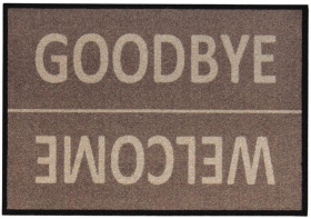 Kilimėlis FU Diavolo welcome / goodbye, 39 x 58 cm, taupe spalvos, ST
