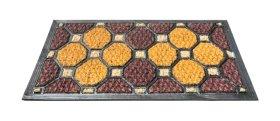 Kilimėlis RICCO TARTAN PLUS, 40 x 60 cm, spalvoti rombai, 100% kokoso pluoštas ant PVC pagrindo, 872-102