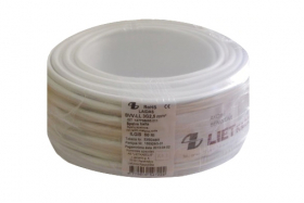 Instaliacinis kabelis LIETKABELIS OMY 300/300V 2*1,5 (BVV-LL) apvalus daugiagyslis (rul 100m)