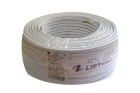 Instaliacinis kabelis LIETKABELIS OMYp 300/500V 2*1,0 (BVV-PLL) plokšč. daugiagyslis (rul 25m)