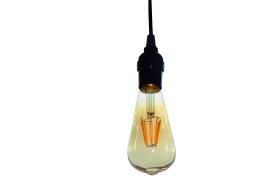 LED lempa ORRO, 6W, E27, ST58, 2700K, 220V, 600 lm, filamentinė, su laidu, A530790007, 55013, N