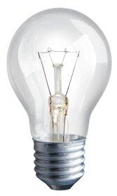 Kaitrinė lempa ISKRA 100 W, E27, 230 V, skaidri