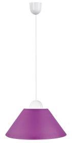 Pakabinamas šviestuvas RABALUX PLASTIC, E27, 1 x 60W, 230V 50Hz, IP20, purpurinės sp., 245 x 600 mm, 1930 , ST