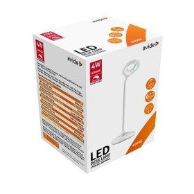 Stalinis šviestuvas  AVIDE AT-7668, 18 LED, 4 W (=40W), 4000K, 210 lm, IP20,  įkraunamas, baltos spalvos, sensorinis valdymas, USB lizdas, mikro USB įkrovimo laidas