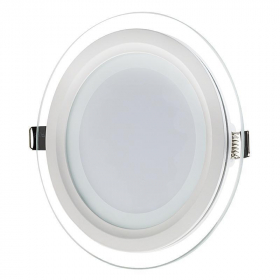Montuojamas šviestuvas ORRO panelė, įleidžiama, LED 6 W, 220-240 V, 400 lm, 3000 K, apvali, stiklinė, balta, 30000 h, A171160126