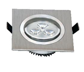 Montuojamas šviestuvas ORRO  LED 3 W, 220-240 V, 180 lm, 3300 K, 30.000 h, kvadratinis, sidabrinės spalvos