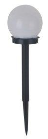 Lauko šviestuvas SUNLUX 8007 su saulės elementais/baterija, plastikinis, įsmeigiamas, burbulas, 40x10cm, A170670015, ST