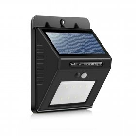 Lauko šviestuvas SUNLUX 8063, su saulės elementais/baterija, plastikinis, sieninis, su PIR judesio davikliu, 80 lm,  11 x 13 x 5 cm, A170610063, ST
