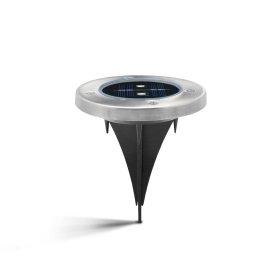 Lauko šviestuvas SUNLUX 8101, su saulės elementais/baterija, metalinis, įsmeigiamas, 13 x 13 x 4 cm, A170610065, ST