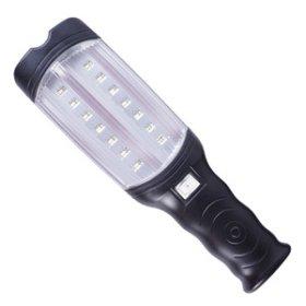 Pernešamas šviestuvas EASY PLUS LED-02B 48LED, 310 x 90 mm, su kabliu, įkraunamas, komplekte automobilinis įkroviklis,