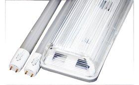 Liuminescencinis šviestuvas BRILLIGHT,2 x 18 W LED, T8, 120 cm, 3600 lm, 6000K,IP65, hermetinis, ABS+PS, komplektacijoje su 2 vnt. T8 18 W Led lempų