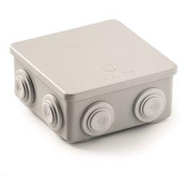 Paskirstymo dėžutė FAMATEL 3028, paviršinė, 80 x 80 x 45 mm, IP65, pilka