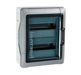 Automatinių išjungiklių skydelis LEGRAND 601981 12 modulių, paviršinis, su skaidriomis durelėmis, PLEXO3, IP65