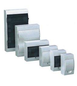 Automatinių išjungiklių skydelis SASSIN 02271 4 modulių, paviršinis, su baltomis durelėmis, IP20, 3SD5-MG