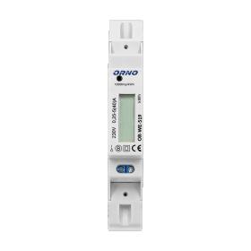 Modulinis elektros skaitiklis ORNO OR-WE-521/501, 1 fazės, 5-40A, 230V, IP20, LCD ekranas, montuojamas ant DIN bėgelio, 02445S