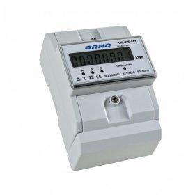 Elektros skaitiklis ORNO OR-WE-505, trifazis, 5-80A, 230V-400V, IP20, LCD ekranas, montuojamas ant DIN bėgelio, 02446S