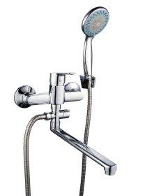 Vonios maišytuvas BORA STYLE, komplektePVC žarna 1,5 m, dušo laikiklis ir dušo galva, 3512010