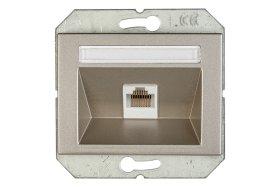 Llizdas kompiuterio VILMA XP500 1 vietos, 5kat., įleidžiamas, šampano spalvos, KLRJ45-15e2-02 XP