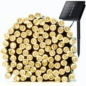Lauko girlianda su saulės elementais SUNLUX, 12m, 100 led, įvairiaspalvė, IP44, SG01