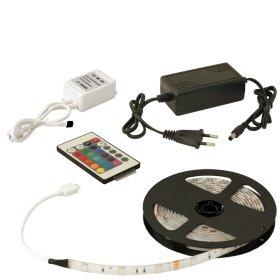 Šviesos diodų juosta ORRO 52081 LED 3 m, 7,2 W / m, IP65, 4000 K, maitinimo šaltinis 2 A, RGB valdiklis, A530360071