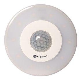 LED šviestuvas DPM GDY5, potinkinis, 5 W, 500 lm, 3000 K, 230 V, skersmuo 105 mm, montavimo skylė 85 mm, su judesio ir prieblandos jutikliu, kuris veikia iki 8 m