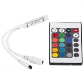 Šviesos diodų juostos kontroleris ir pultas AVIDE RGB