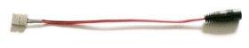 Šviesos diodų juostos jungiamoji detalė su laidu AVIDE, 3528, 8 mm, DC, 12V