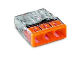 Jungtis laidams WAGO 2273-203/5 oranžinės spalvos, 5 vnt.,