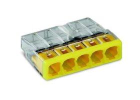 Jungtis laidams WAGO 2273-205/25 geltonos spalvos, 25 vnt.,